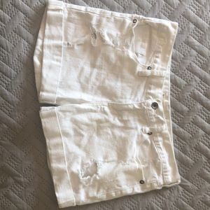 Bullhead White Jean Distressed Shorts Size 9